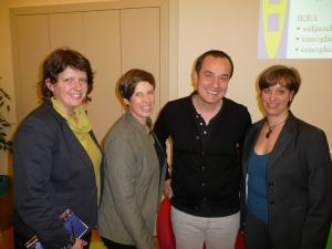 Im Bild (Zenz) v.l.: Barbara Sieberth, Alexandra Schmidt, Christian Salic, Sylvia Mieszkowski
